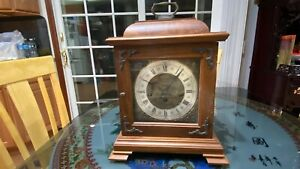 Vintage Hamilton Chime Clock 340-020 West Germany ,2 Jewels,with Key
