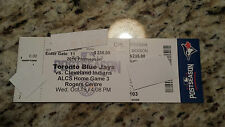 Toronto Blue Jays VS Cleveland Indians 2016 Game 5 ALCS Playoff ticket