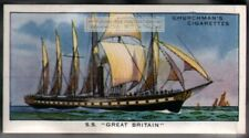 1845 SS Great Britain  Passenger Steamship Screw Propeller 80 Y/O Ad Trade Card