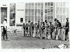 1963 Vintage Photo road working peasants chant together in Addis Ababa Ethiopia