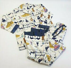 Barkins Pyjamas Womens Extra Large Cotton Flannelette Button Up Top & Bottoms