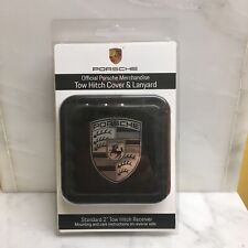 PORSCHE DESIGN TOW HITCH COVER  FOR CAYENNE AND/OR MACAN BLACK NEW W/LANYARD!