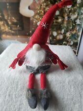 Christmas Sitting Gnome Dangle Legs Holiday Decor