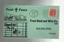 1944 Sudbury Ontario to Hamilton Canada Frost Steel Picture Advertising Cover