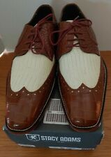 Men's Stacy Adams Giordano Mustard/Ivory Croco/Lizard Print Shoes - Size 10 M