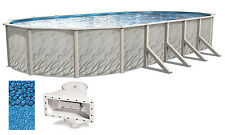 """15x30x52"""" Ft Oval MEADOWS Above Ground Swimming Pool w/ Boulder Swirl Liner Kit"""