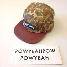 SUPREME CAMO LEATHER CAMP CAP