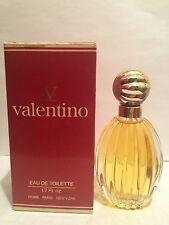 V Valentino 1.7 oz/50 ml Eau de Toilette Splash Original Formula Vintage RARE