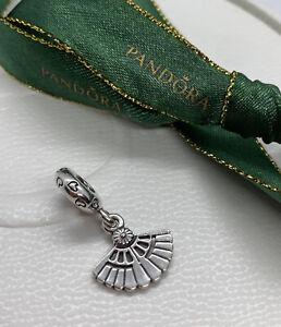 PANDORA Charm Sterling Silver ALE Genuine DANGLE HEARTS A FLUTTER FAN 791110