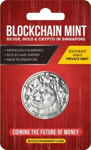 2021 Blockchain Mint Dogecoin 1 oz Silver Round GEM BU