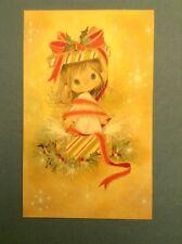 Hallmark CHARMERS CHRISTMAS CARDS Box of 25 Vintage & Envelopes Girl Holly Wrap