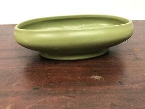 Vintage Green McCoy Floraline Low Oval Bowl  #476-8