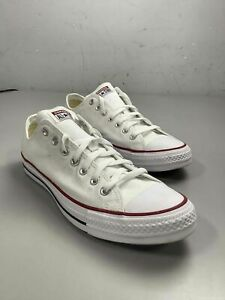 Men's Converse All-Star White Canvas Shoes Size 12