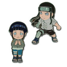 **License** Naruto Metal Pin Set Hyuga Byakugan Clan SD Hinata & Neji #7490