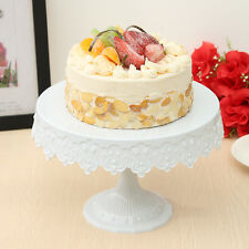 White Round Cake Stand European Dessert Display Shelf Holder Shop Wedding Decor