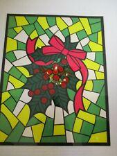 Vintage Christmas Scenes Window Transfers Stain Glass Look - 8 Panels