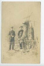 Hunters w. Dead Deer RPPC Rifle Antique Photo ca. 1910s