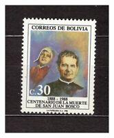 37167) BOLIVIA 1988 MNH** St. John Bosco 1v Scott# 771 Don Bosco