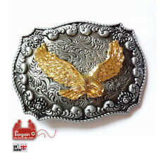3D Golden Eagle America Western  Belt Buckle