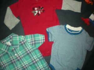 ~ADORABLE, BRIGHT AND CLEAN SHIRTS 6 - 9 MONTHS..1.99
