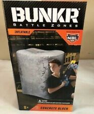 Bunkr Battle Zones Inflatable Concrete Block New, Nerf, Laser or Paintball