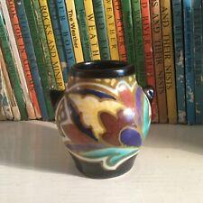 Vintage/Antique Art Deco Dutch Gouda. Small Urn Vase.