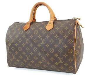 Authentic LOUIS VUITTON Speedy 35 Monogram Boston Handbag Purse #40647