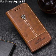 New Pu Leather Wallet Card Holder Case 5.5'' Flip Back Cover For Sharp Aquos R2