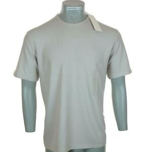 New Men's Perry Ellis T Shirt Large Textured Stretch Short Sleeve Crew Neck Sand