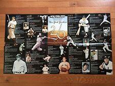 Baseball New York Post YANKEES POSTER World Championships 1923-2000