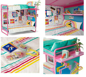 American Girl 80's COURTNEY BEDROOM & ACCESSORIES Pac Man Bunk Bed Phone Mirror+