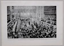 1911 PRINT KING EDWARD VII FUNERAL SERVICE ST GEORGE'S CHAPEL WINDSOR MAY 1910