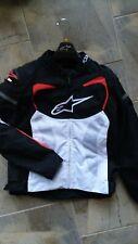 ALPINESTARS T-GP PRO AIR MOTORCYCLE JACKET SIZE XL WHITE/BLACK/RED EUC