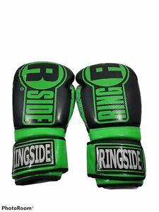 FTG2, 16 OZ, Ringside Apex Flash Sparring Gloves, Black & Green