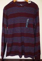 NWT GAP Men's Thermal Shirt Long Sleeve Wine & Blue S L XL MSRP$30 New