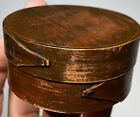 Early Shaker Style 2 Finger Miniature 2  Maroon Red Pantry Box Fantastic Box NM