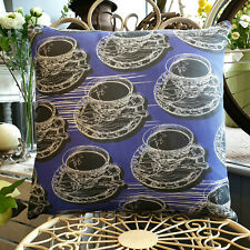 Violet Double Sided Teacup & Saucer Cushion - Created in the UK by thetinkan