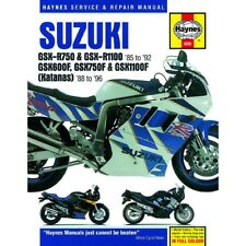 Haynes Workshop Service Manual Suzuki GSXR750 1985-1992