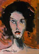 "JOSE TRUJILLO NEW ORIGINAL Oil Painting IMPRESSIONISM ART PORTRAIT  ABSTRACT 16"""