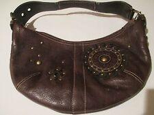 Authentic Coach Mia Hobo Brown Studs Leather Purse No.C063-10062