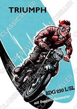 Triumph BDG 250 L SL Motorrad Poster Plakat Bild BDG250 Schild Affiche Deko