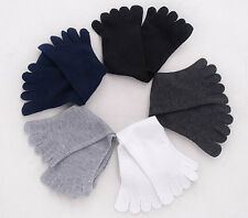 Hot LOVELY Mens Womens Socks Cotton Sports Five Finger Socks ToeSock White SALE
