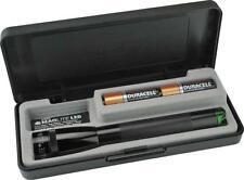 Mag-Lite 2AA Cell Battery Green LED & Black Aluminum Body Mini Flashlight 53626