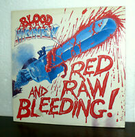 "12"" BLOOD MONEY RED RAW AND BLEENDING LP 1986 HARD ROCK - METAL - ITALY"