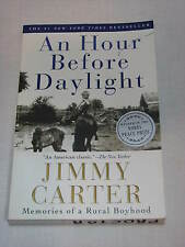 SIGNED Jimmy Carter signature Book An Hour Before Daylight President AUTOGRAPH p