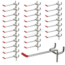 25pcs Storage Display Peg Board Hooks Wall Shelf  Workshop Pegboard Hanging