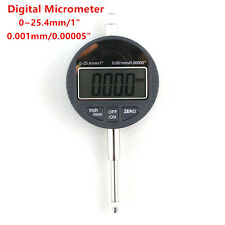 "Digital Micrometer 25.4mm~1"" Electronic 0.001mm Micron Dial Indicator Measuring"