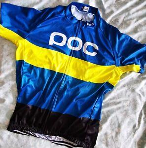 2021 POC Mens Bike Cycling Jersey Short Sleeve Bicycle Shirt Maillots Pockets