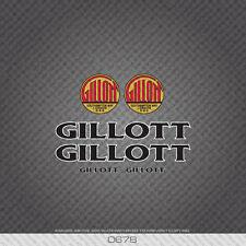 0678 A.S. Gillot Vélo Décalcomanies - Noir Text / Blanc Key