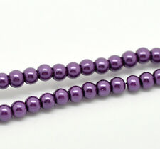 """Glass Pearl Imitation Round Beads - 32"""" Strand - 4mm - 210 pcs. - Pick the color"""
